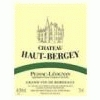 Chateau Haut-bergey Red Wine Pessac Leognan Bordeaux France Wines Bordeaux France